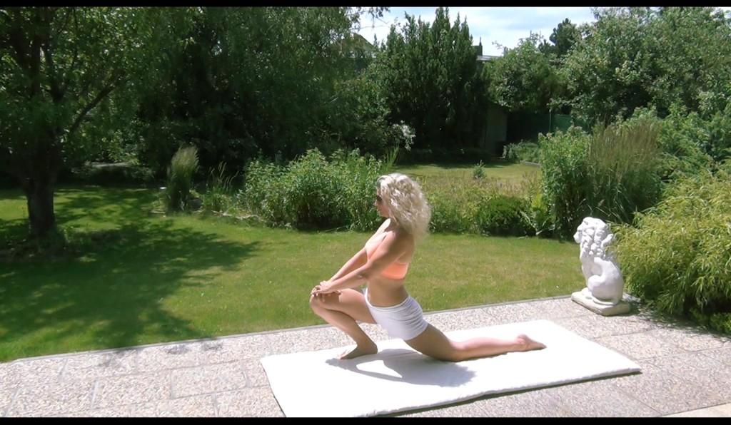 Plantarfasziosis dragon pose yin yoga